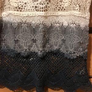 American Eagle Outfitters Tops - American Eagle crochet ombré tie dye tank top